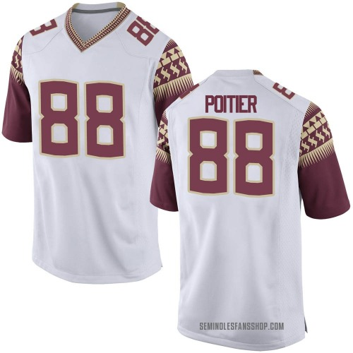 Men's Nike Kentron Poitier Florida State Seminoles Game White Custom Football College Jersey
