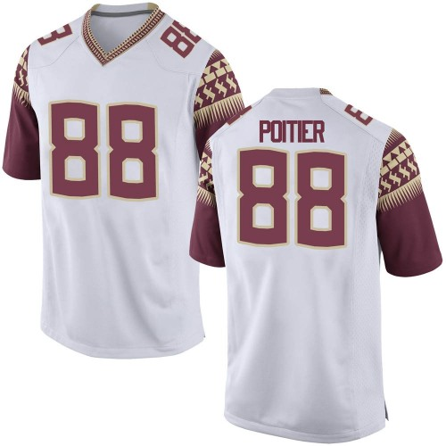 Men's Nike Kentron Poitier Florida State Seminoles Replica White Custom Football College Jersey