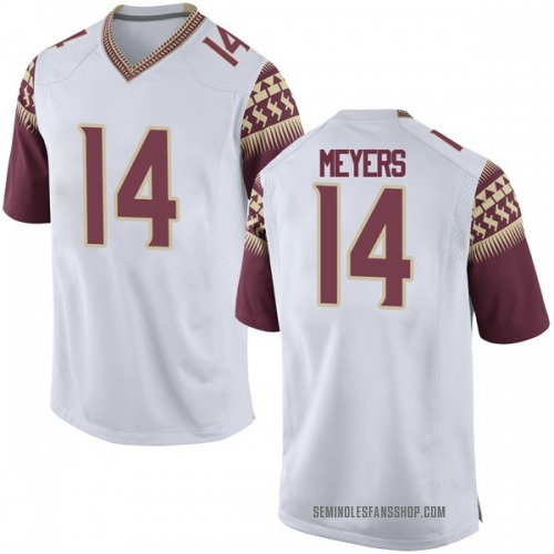 Men's Nike Kyle Meyers Florida State Seminoles Replica White Football College Jersey