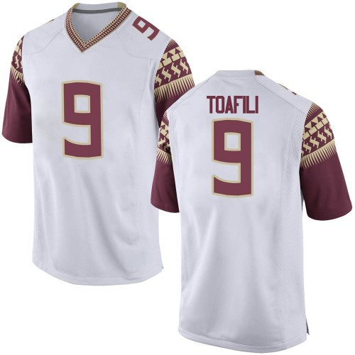 Men's Nike Lawrance Toafili Florida State Seminoles Replica White Football College Jersey