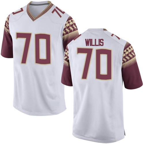 Men's Nike Lloyd Willis Florida State Seminoles Game White Football College Jersey