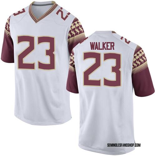 quality design d19b8 4c42f Men's Nike M.J. Walker Florida State Seminoles Game White Football College  Jersey