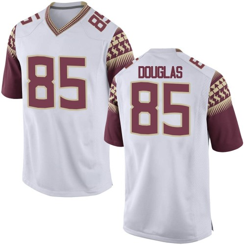 Men's Nike Markeston Douglas Florida State Seminoles Replica White Football College Jersey