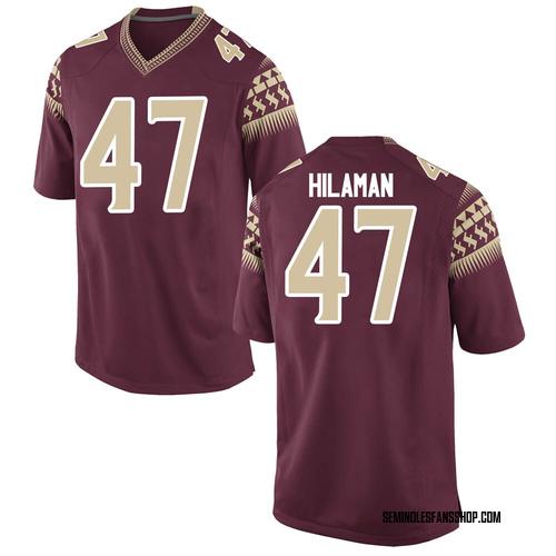 Men's Nike Marshall Hilaman Florida State Seminoles Game Custom Garnet Football College Jersey