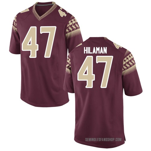 Men's Nike Marshall Hilaman Florida State Seminoles Game Garnet Football College Jersey