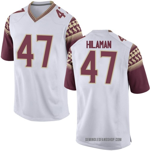 Men's Nike Marshall Hilaman Florida State Seminoles Game White Football College Jersey