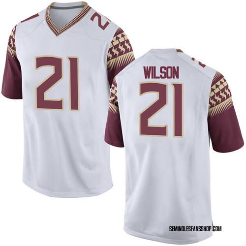 Men's Nike Marvin Wilson Florida State Seminoles Replica White Football College Jersey