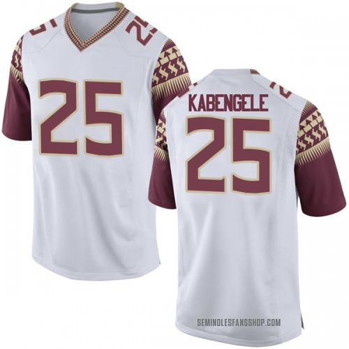 Men's Nike Mfiondu Kabengele Florida State Seminoles Game White Football College Jersey