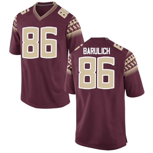 Men's Nike Michael Barulich Florida State Seminoles Game Garnet Football College Jersey