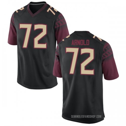 Men's Nike Mike Arnold Florida State Seminoles Game Black Football College Jersey