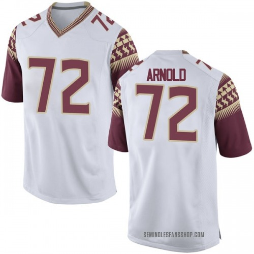 Men's Nike Mike Arnold Florida State Seminoles Game White Football College Jersey