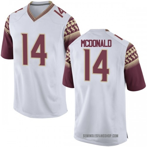 Men's Nike Nolan McDonald Florida State Seminoles Game White Football College Jersey