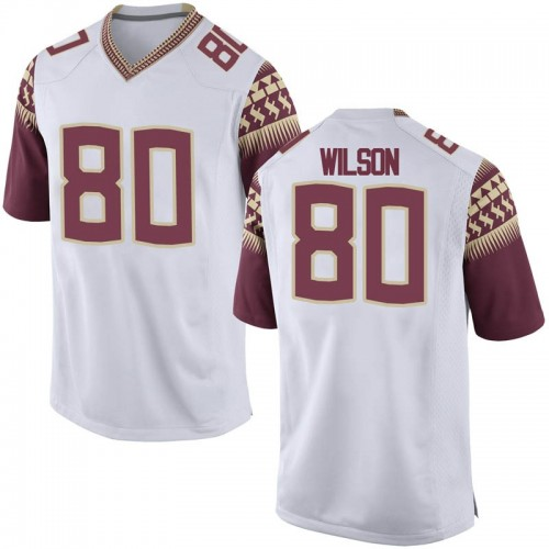 Men's Nike Ontaria Wilson Florida State Seminoles Game White Football College Jersey