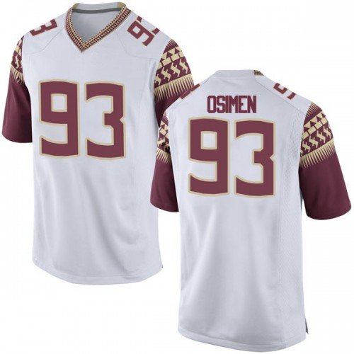 Men's Nike Peter Osimen Florida State Seminoles Replica White Football College Jersey