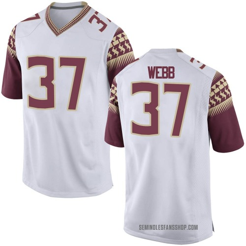 Men's Nike Raekwon Webb Florida State Seminoles Game White Football College Jersey