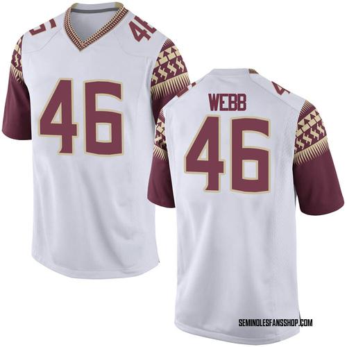 Men's Nike Raekwon Webb Florida State Seminoles Replica White Custom Football College Jersey