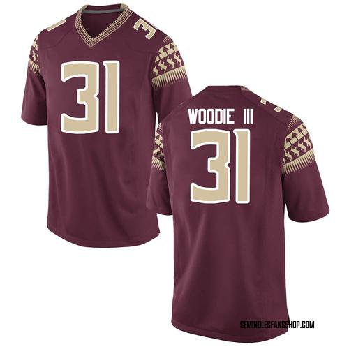 Men's Nike Raymond Woodie III Florida State Seminoles Game Garnet Football College Jersey