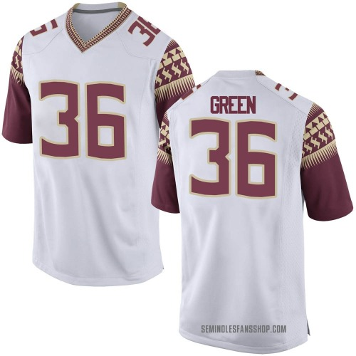 Men's Nike Renardo Green Florida State Seminoles Game White Football College Jersey
