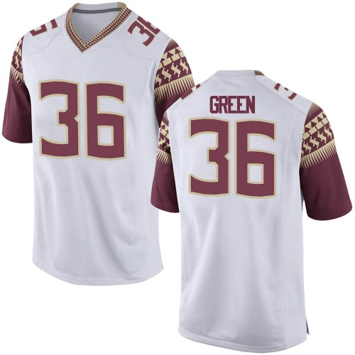 Men's Nike Renardo Green Florida State Seminoles Replica White Football College Jersey
