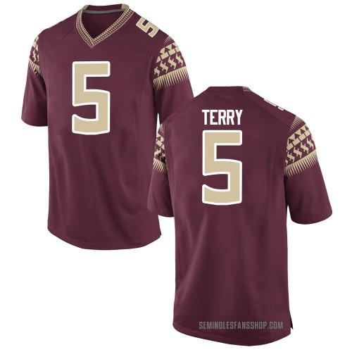 Men's Tamorrion Terry Florida State Seminoles Game Garnet Football College Jersey