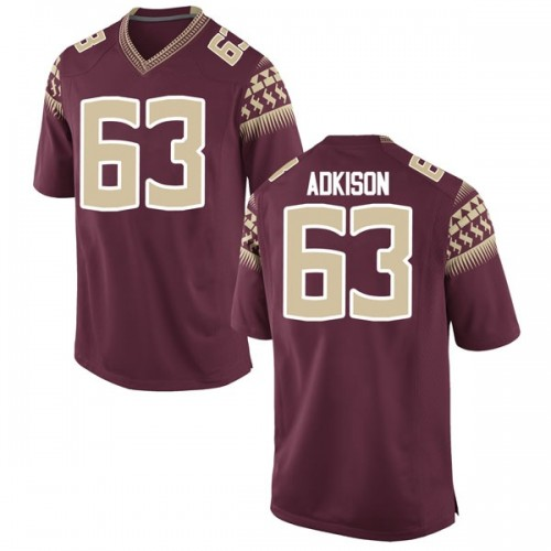 Men's Nike Tanner Adkison Florida State Seminoles Game Garnet Football College Jersey