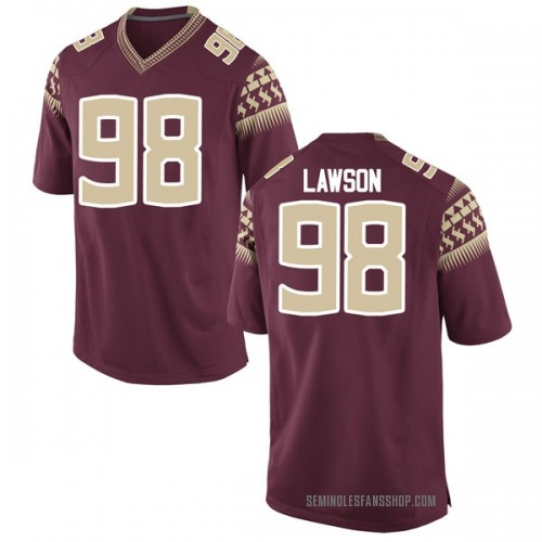 Men's Nike Tre Lawson Florida State Seminoles Replica Garnet Football College Jersey