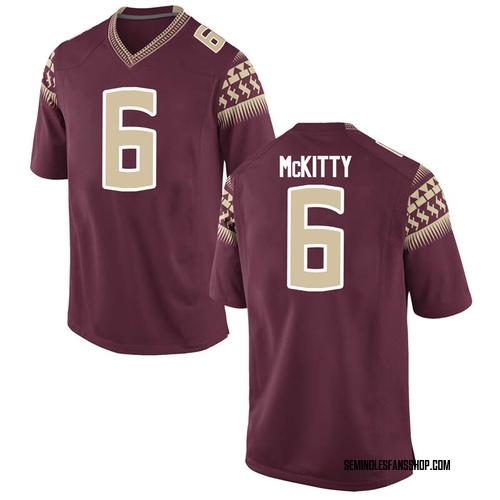 Men's Nike Tre' McKitty Florida State Seminoles Replica Garnet Football College Jersey