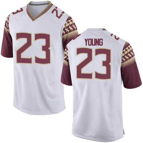 Men's Nike Tre Young Florida State Seminoles Game White Football College Jersey