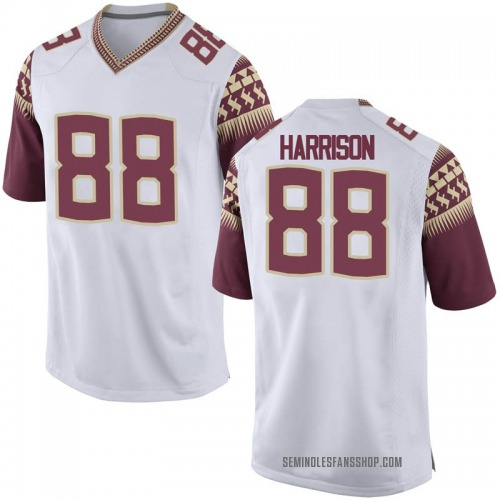 Men's Nike Treshaun Harrison Florida State Seminoles Game White Football College Jersey