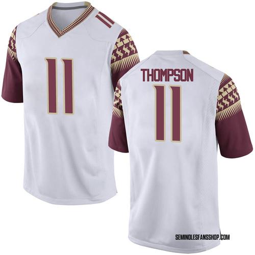 Men's Nike Warren Thompson Florida State Seminoles Game White Football College Jersey
