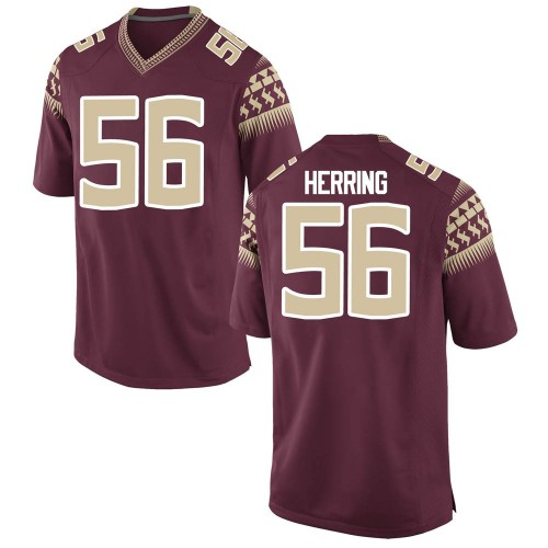 Men's Nike Zane Herring Florida State Seminoles Replica Custom Garnet Football College Jersey