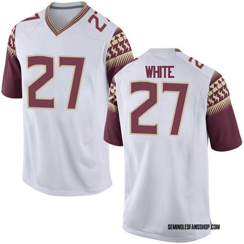 Men's Nike Zaquandre White Florida State Seminoles Game White Football College Jersey