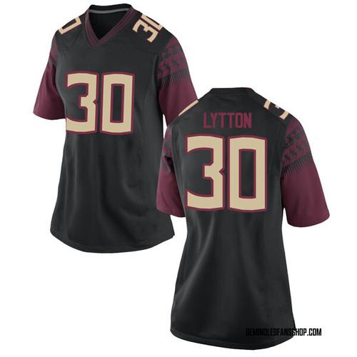 Women's Nike A.J. Lytton Florida State Seminoles Replica Black Football College Jersey