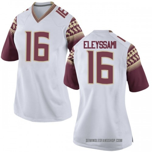 Women's Nike Alex Eleyssami Florida State Seminoles Game White Football College Jersey