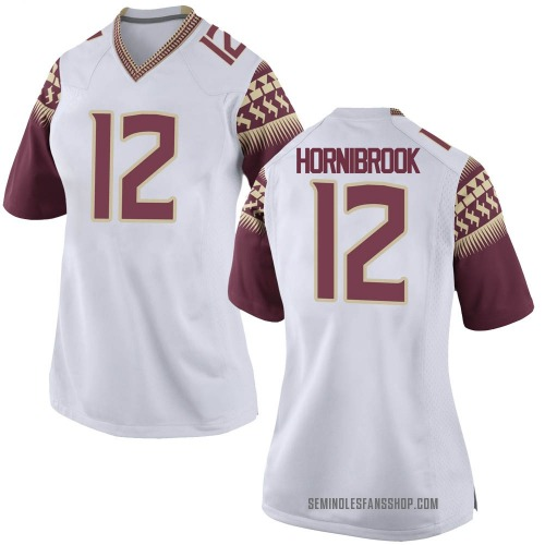 Women's Nike Alex Hornibrook Florida State Seminoles Game White Football College Jersey