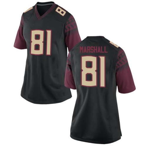 Women's Nike Alex Marshall Florida State Seminoles Game Black Football College Jersey