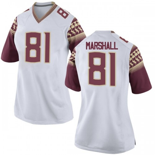 Women's Nike Alex Marshall Florida State Seminoles Game White Football College Jersey