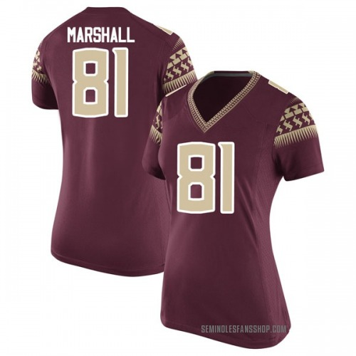 Women's Nike Alex Marshall Florida State Seminoles Replica Garnet Football College Jersey