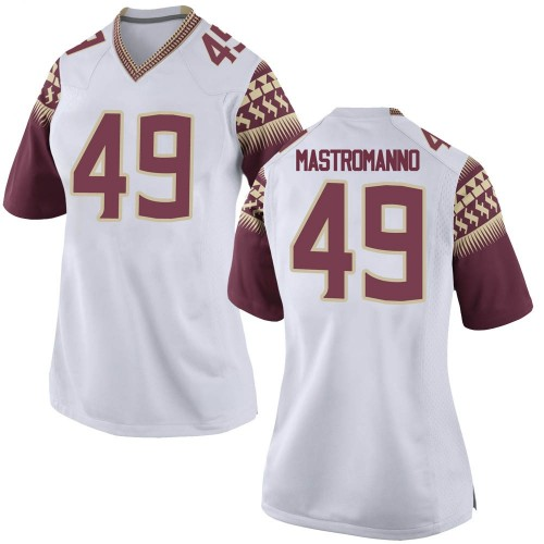 Women's Nike Alex Mastromanno Florida State Seminoles Game White Football College Jersey