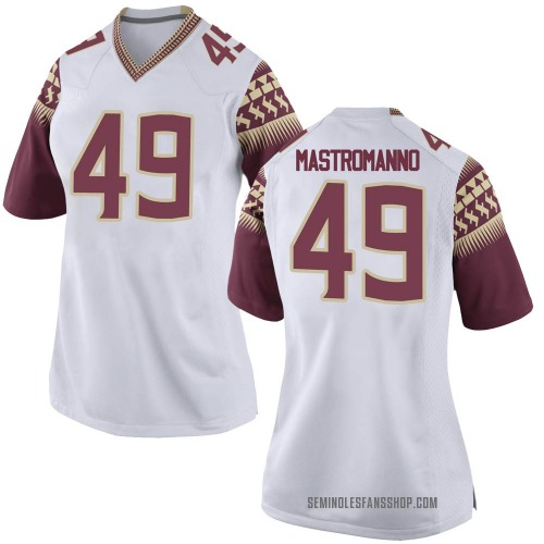 Women's Nike Alex Mastromanno Florida State Seminoles Replica White Football College Jersey