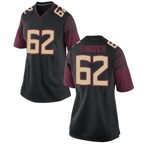 Women's Nike Alexander Strozier Florida State Seminoles Game Black Football College Jersey