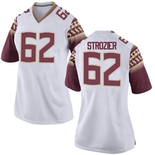 Women's Nike Alexander Strozier Florida State Seminoles Game White Football College Jersey