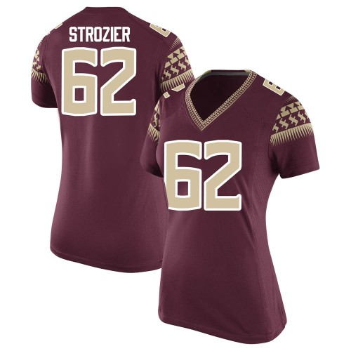 Women's Nike Alexander Strozier Florida State Seminoles Replica Garnet Football College Jersey
