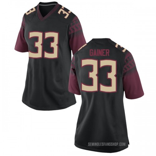 Women's Nike Amari Gainer Florida State Seminoles Replica Black Football College Jersey