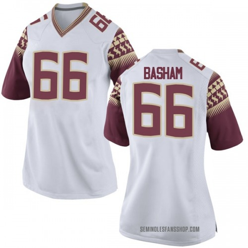 Women's Nike Andrew Basham Florida State Seminoles Game White Football College Jersey
