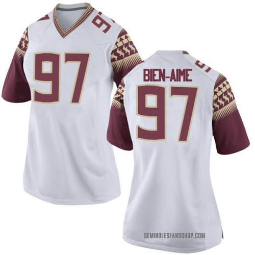 Women's Nike Andy Bien-Aime Florida State Seminoles Game White Football College Jersey
