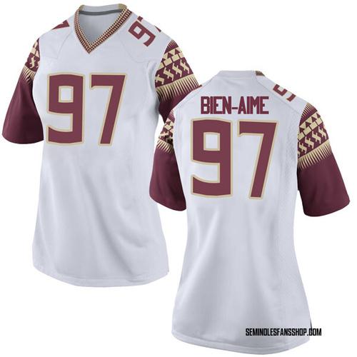 Women's Nike Andy Bien-Aime Florida State Seminoles Replica White Football College Jersey
