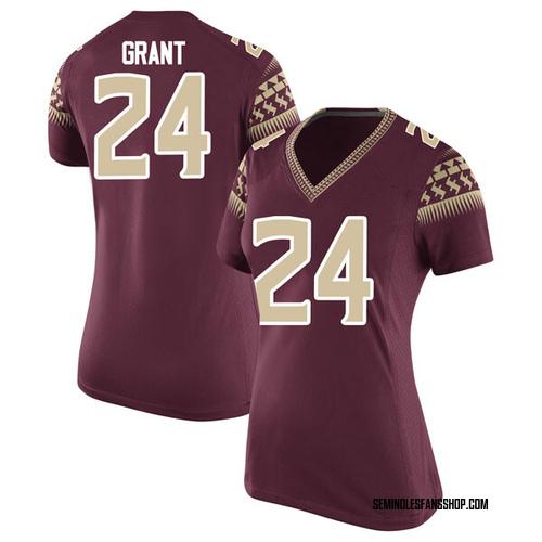 Women's Nike Anthony Grant Florida State Seminoles Replica Garnet Football College Jersey
