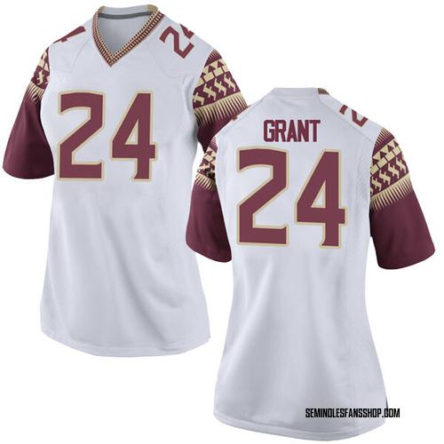 Women's Nike Anthony Grant Florida State Seminoles Replica White Football College Jersey