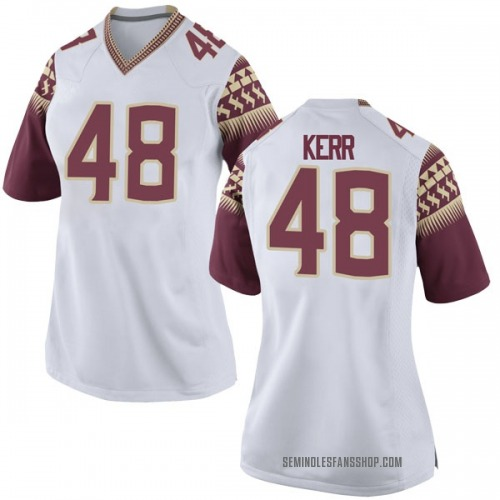 Women's Nike Armani Kerr Florida State Seminoles Game White Football College Jersey